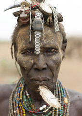 Dassanetch old woman - Ethiopia (Eric Lafforgue) Tags: artistic watches watch culture tribal ornament wig tribes oldwoman bodypainting tradition tribe ethnic rite tribo adornment pigments ethnology tribu eastafrica thiopien etiopia ethiopie etiopa montres 8733  etiopija ethnie ethiopi  etiopien etipia  etiyopya  nomadicpeople         peoplesoftheomovalley
