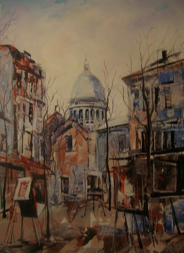 Artist's Corner - Painting - Impressionistic