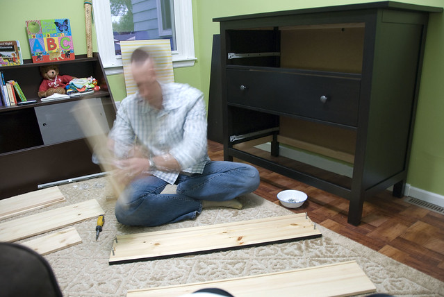 putting together dresser