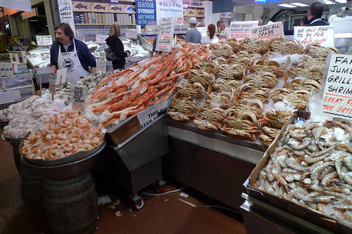 Fresh Seafood for Sale at Pike Place Market