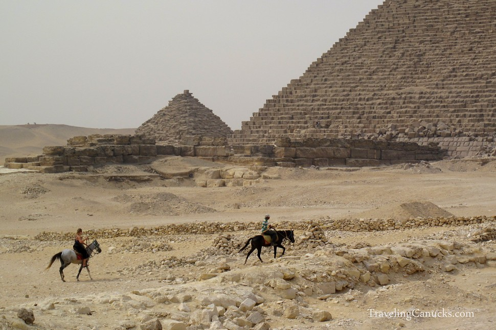 Horseback riding at the Pyramids