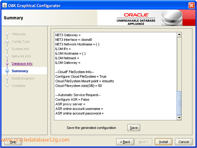 Oracle Appliance Manager Configurator6