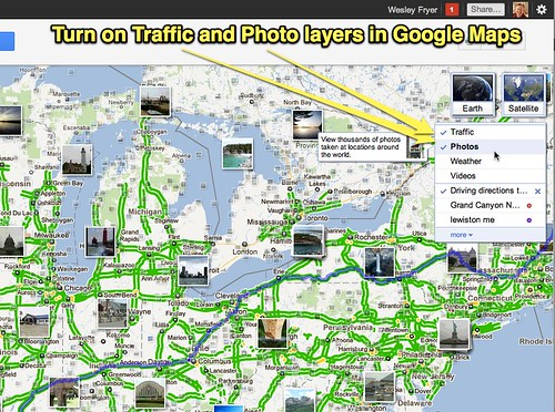 Google Maps: Traffic and Photos