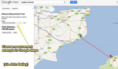 Clever Google Maps measurement example