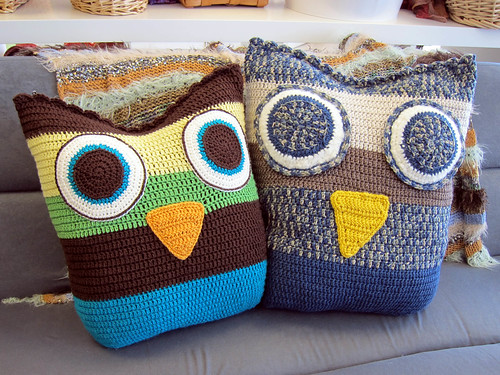 soft owl pillows