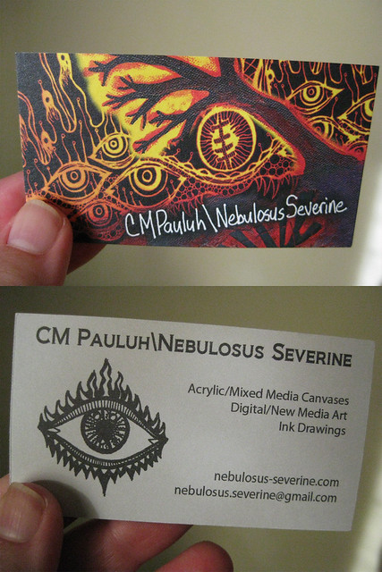 My business cards came in the mail today