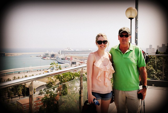 barcelona - me and dad