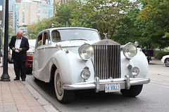 Spacious Pompous Limo (Canadian Pacific) Tags: old wedding white toronto ontario canada car vintage automobile 1954 rollsroyce canadian 1950s british stlawrencehall kingstreeteast aimg1746