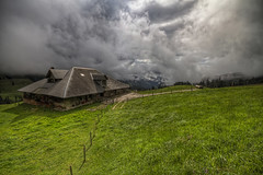 Over The Hills (Philippe Saire || Photography) Tags: sky house mountain alps nature clouds montagne alpes canon landscape eos switzerland suisse farm sigma wideangle explore ciel 7d 1020mm nuages paysage maison hdr ferme gantrisch 366 alpage photomatix philippesaire
