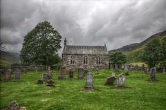 Church of Glenshee (tk-link) Tags: sky friedhof house church graveyard stone scotland glenshee small tombstone perthshire kirche hills valley gravestone grabstein hdr highdynamicrange spittalofglenshee