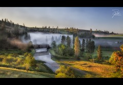 Morning at Palouse River (Frank Kehren) Tags: morning bridge fog sunrise canon river washington unitedstates f11 palouse 24105 palouseriver canonef24105mmf4lis ef24105mmf4lisusm harpole canoneos5dmarkii manningroad