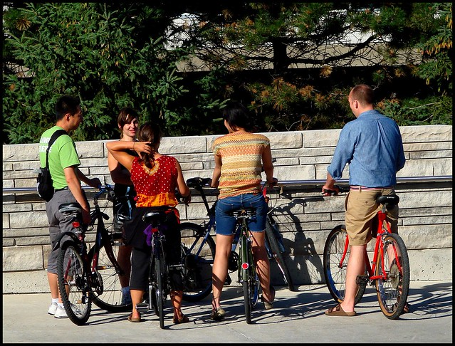 colourful bike gang