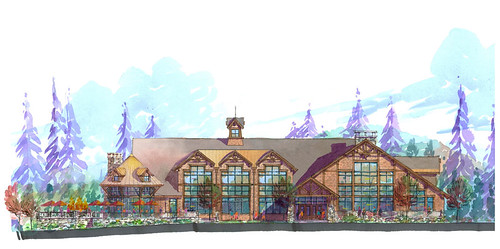 Mountancreek Red Tail lodge rear elevation