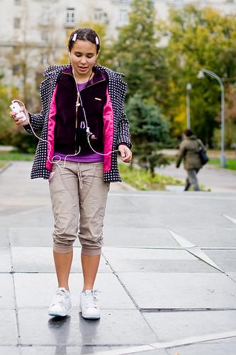 Nastia on Heelys