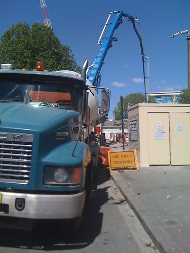 Pumping concrete at UTS 1
