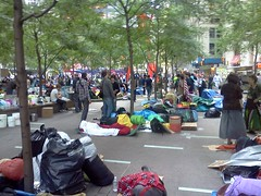 Wall Street protesters at Zuccoti Park (terryballard) Tags: worldtradecenter protests