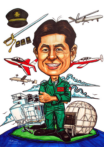 Caricature for Singapore Air Force