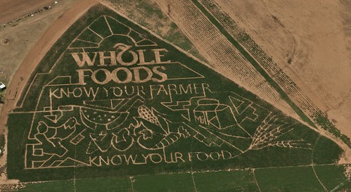 Whole Foods corn field maze ad