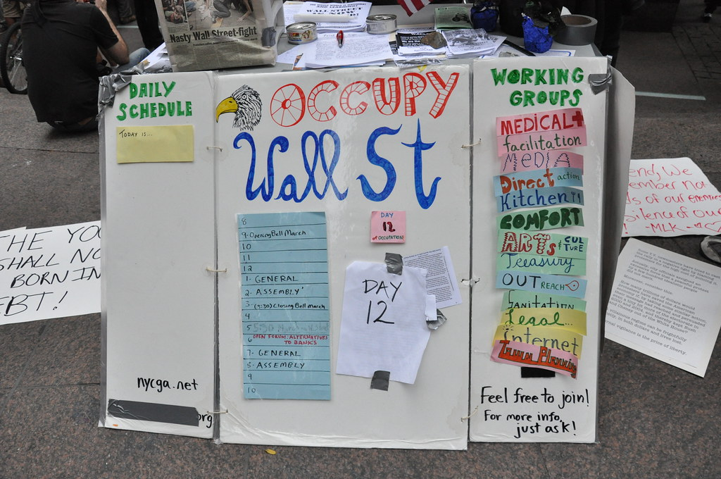 Info. table Occupy Wall St.