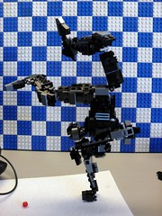 1 Handed handstand FTW!!! (ZephyrChaos) Tags: black dark this 1 robot stand is hand lego yeah fig sweet tag zephyr mecha mech handed fits moc ftw bley zephyrchaos
