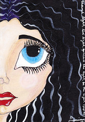 USA -  12 sept. (yaeshona) Tags: white color pen pencils big eyes doll acrylic tea quote mat dreams rubberstamp gel gesso paints prisma correction cardstock yoghi bigeyedgirls unisigno