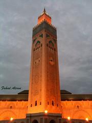 مأذنه (احساس عاشق) Tags: morocco محمد مسجد المغرب اكبر السادس الدارالبيضاء بالمغرب مأذنه كازا