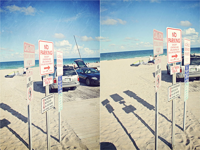 Fort Lauderdale beach signs diptych