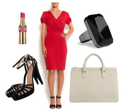 red dress for work outfit2