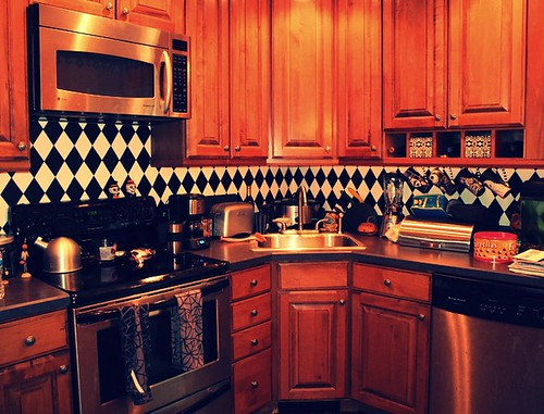 Harlequin backsplash