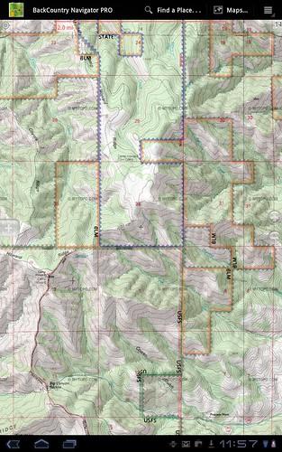 Idaho BLM Maps For Android BackCountry Navigator - Idaho public lands map
