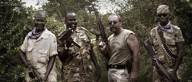 Sam Childers with SPLA Soldiers