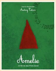 Amelie (2001) (Jon Glanville) Tags: france gnome amelie jeanpierrejeunet frenchmovie lefabuleuxdestinlameliepoulain minimalistposters minimalistfilmposter audreytatuou