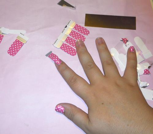 Nail polish stickers
