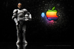 278/365 | Steve Jobs 1955-2011 (egerbver) Tags: blue red orange trooper david black reflection green apple yellow toy toys star rainbow mac imac ipod action jobs eger steve disney days pixar clones figure stormtrooper wars 365 clone inc hasbro iphone ipad