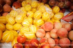 Fruit, Seoul, Korea (Seven Seconds Before Sunrise) Tags: travel apple fruit asia peach korea seoul melon southkorea nectarine gyeonggido gyeonggi namdaemunmarket koreanmelon yellowmelon chameh