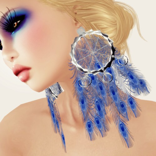 A&A Fashion Earrings Peacock - blue