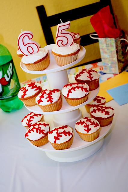 Dad's Baseball Cupcakes