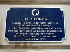 Photo of The Athenaeum, Liverpool blue plaque