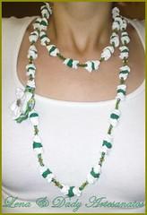 101020112540 (Lena & Dady Artesanato) Tags: tiara de lindo fuxico colar tecido malha trapilho