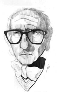 Caricatura del pintor por David Aguado Aparicio