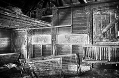 In the Barn (Edwin van Nuil Photography) Tags: barn blackwhite hdr highiso balloo x100 fujifinepixx100