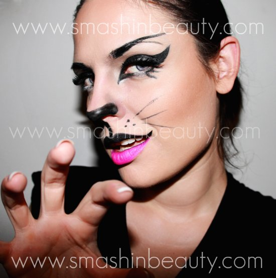 Sexy Cat Makeup For Halloween Halloween Makeup Tutor...
