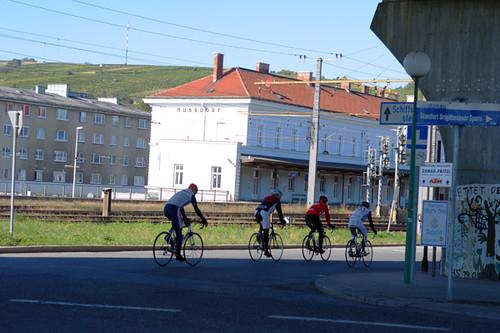 Vienna, Nussdorf, Cyclists