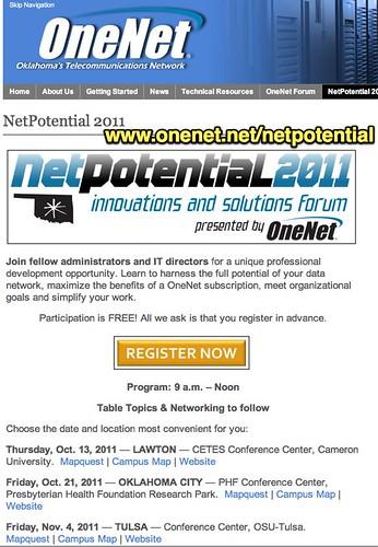 OneNet: NetPotential 2011