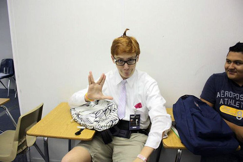 Brian as a nerd in school