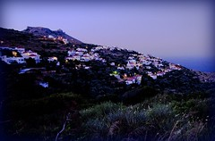 Kochylou village in the twilight (n.pantazis) Tags: twilight village dusk streetlamps andros highiso pentaxkx aegeansea korthi