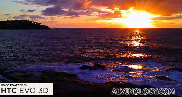 The magnificent sun rise at Bondi Beach