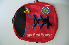 My First Sony Back Pack (BeeldenGeluid) Tags: museum radio ads walkman reclame retro gadgets collectie archief objecten beeldengeluid myfirstsony nederlandsinstituutvoorbeeldengeluid