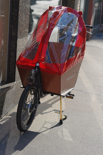 Bakfiets with Rain Cover