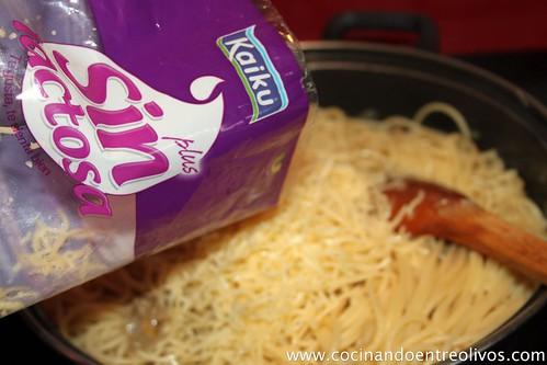 Spaghetti carbonara de setas sin lactosa (9)